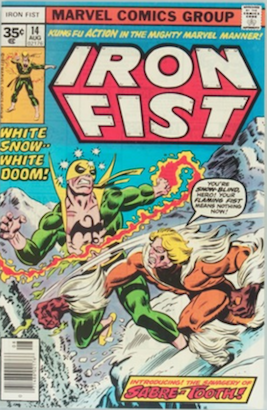 KEY ISSUE! Iron Fist #14 Marvel 35 Cent Price Variants Origin and First Appearance, Sabretooth