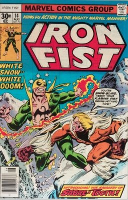 Iron Fist #14 (August 1977): First Appearance, Sabre-Tooth. Click for values