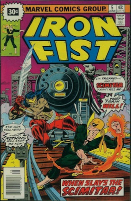 Iron Fist #5 30c Variant June, 1976. Price in Starburst
