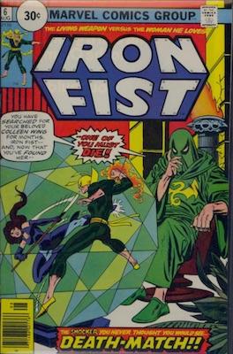 Iron Fist #6 30c Variant August, 1976. Circle Price