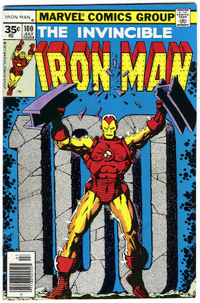 Iron Man #100 Marvel 35 Cent Price Variant