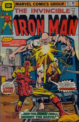 Iron Man #85 Marvel 30 Cent Price Variants April, 1976. Starburst Price