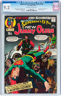 Superman's Pal Jimmy Olsen #134 is hot property, thanks to the 1st Darkseid cameo. Click to buy a CGC 9.2 copy