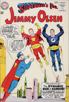 Jimmy Olsen #69: First Nighthound (Nightwing's dog. Click for values.