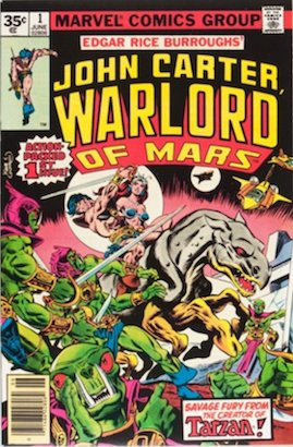 John Carter Warlord of Mars #1 35 Cent Price Variant