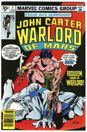 John Carter Warlord of Mars #3 35 Cent Price Variant