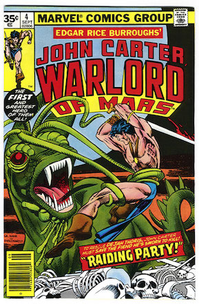 John Carter Warlord of Mars #4 35 Cent Price Variant