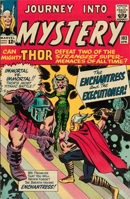 Origin and First Appearance, Enchantress, Journey into Mystery #103, Marvel Comics, 1964. Click for value