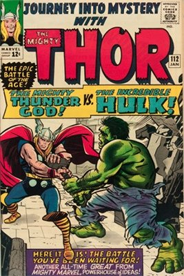 Journey into Mystery #112: Hulk vs Thor. Click for values