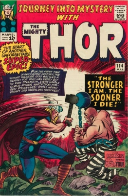 The Absorbing Man (First Appearance: Journey Into Mystery #114, March, 1965; First Battle With Hulk: Incredible Hulk #125, March, 1970). Click for value
