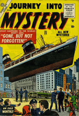 Journey Into Mystery #23 (March 1955): First Appearance of Comics Code. Click for value
