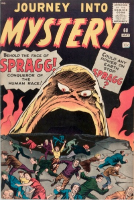 Origin and First Appearance, Spragg, Journey into Mystery #68, Marvel Comics, 1961. Click for value