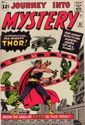 Journey into Mystery #83: Origin and First Appearance of Thor in Marvel Comics. Click for values