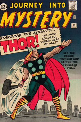 Journey into Mystery #89: Origin of Thor retold; classic cover. Click for values
