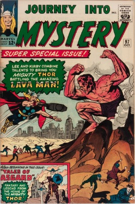 Origin and First Appearance, Lava Men, Journey into Mystery #97, Marvel Comics, 1963. Click for value