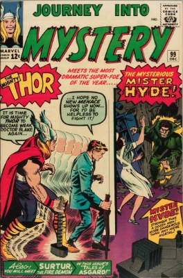 Origin and First Appearance, Mister Hyde, Journey into Mystery #99, Marvel Comics, 1963. Click for value