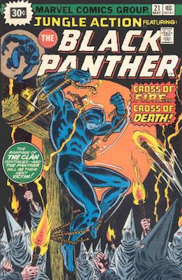 Jungle Action #21 Marvel Price Variant May, 1976. Starburst Price