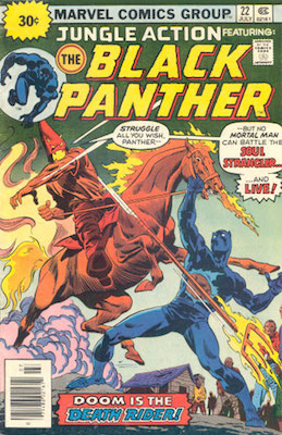Jungle Action #22 30 Cent Price Variant July, 1976. Price in Starburst