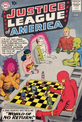 Justice League of America #1: J'onnz in the Super-Team. This is a RED-HOT comic book due to JLA movie speculation! Click for value