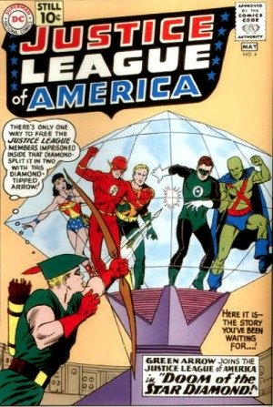 Justice League of America #4 (1961): Green Arrow joins the super-team