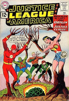 Justice League of America #9 is the first origin of the Justice League in comic books