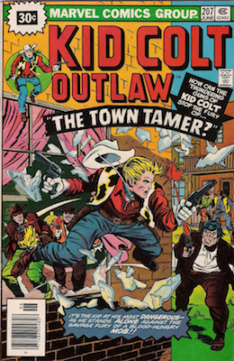 Kid Colt Outlaw #207 Marvel 30 Cent Price Variant June, 1976. Price in Starburst