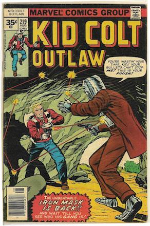 RARE! Kid Colt Outlaw #219 Marvel 35 Cent Price Variant Edition
