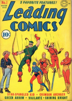 Leading Comics #1: Origin and First Appearance, Seven Soldiers of Victory. Click for values