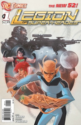New 52 reboot of the Legion of Superheroes #1. Click for values