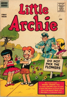 Little Archie #1: First in spin-off series; Only 42 graded copies in the CGC census. Click for value