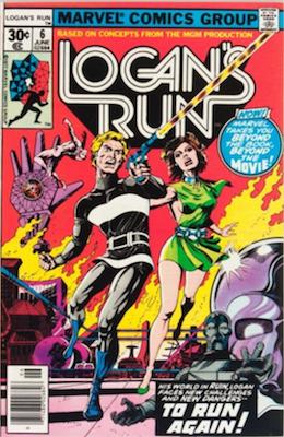 Logan's Run #6: 1st Solo Thanos Comics Story. Click for values