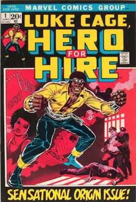 Hero for Hire #1: Origin and First Appearance, Luke Cage. Click for value