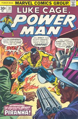 Power Man #30 Marvel 30 Cent Price Variant April, 1976. Regular Price Box