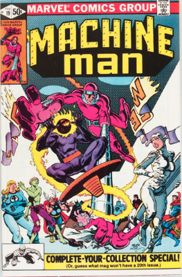Origin and First Appearance, Jack O'Lantern, Machine Man #19, February, 1981. Click for value