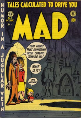 MAD Comics #1 (Oct 1952): EC, First Issue in Series of comic run pre-magazine. Click for values