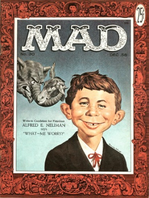Mad Magazine #30, first Alfred E. Neumann cover. Click for values