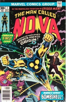 Nova #1 (1976): Origin and 1st appearance of Nova (Richard Rider) and Ginger Jaye. Click for values
