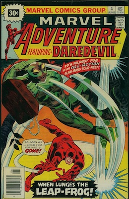 RARE! Marvel Adventure Featuring Daredevil #4, 30c Variant June,1976. Starburst Price