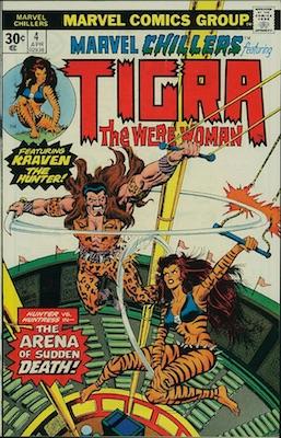 Marvel Chillers #4 30c Price Variant April, 1976. Regular Price Box