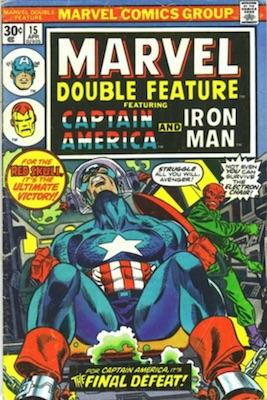Marvel Double Feature #15 Marvel 30c Price Variant April, 1976. Regular Price Box