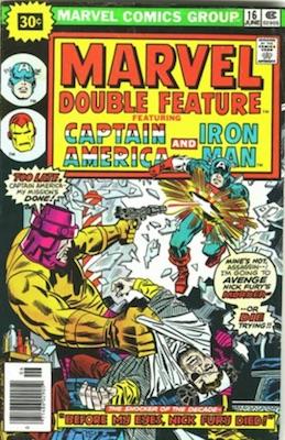 Marvel Double Feature #16 Marvel 30 Cent Price Variant June, 1976. Starburst Flash