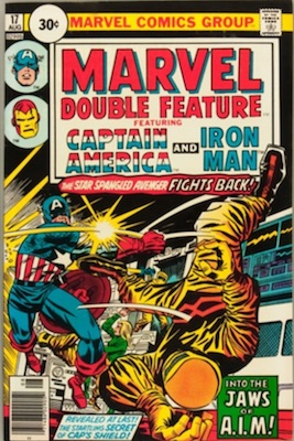 Marvel Double Feature #17 30c Price Variant August, 1976. Circle Price Box