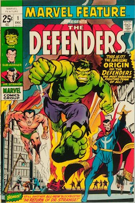 Marvel Feature #1 (1971): First Appearance, Defenders. One of the most expensive comics of the Bronze age. Click for values