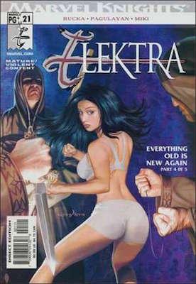 Elektra #21: lingerie cover