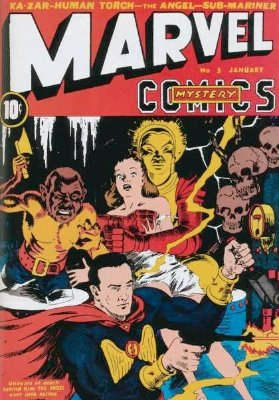 Marvel Mystery Comics #3 from 1940, a rare early Marvel comic book