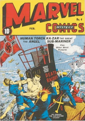 Marvel Mystery Comics #4 from 1940, a rare wartime comic book