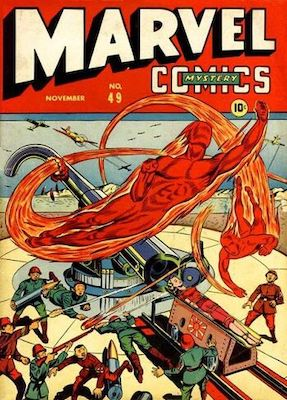 Marvel Mystery Comics #49: Origin and First Appearance, Miss America (Madeline Frank). Click for values