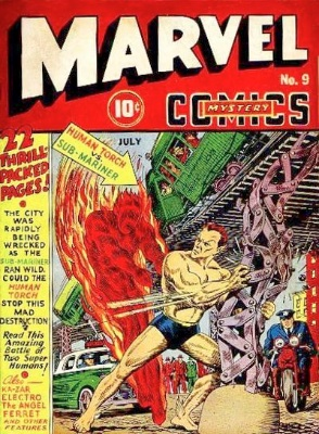 The classic cover art of Marvel Mystery Comics #9 makes it a sought-after Golden Age comic book