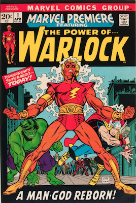 Marvel Premiere #1 (April, 1972): Warlock; First Appearance and Origin. Click for value