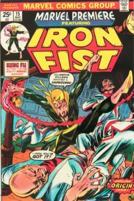 Origin and First Appearance, Iron Fist, Marvel Premiere #15, Marvel Comics, 1974. Click for value